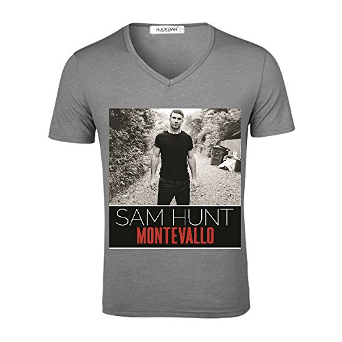 Sam Hunt Montevallo Men V Neck Music Grey
