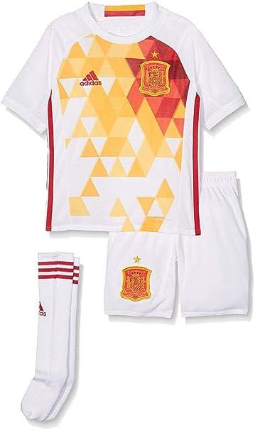adidas 2ª equipación Selección Española de Futbol 2016-2017 - Conjunto Camiseta y pantalón Corto Oficial: Amazon.es: Zapatos y complementos