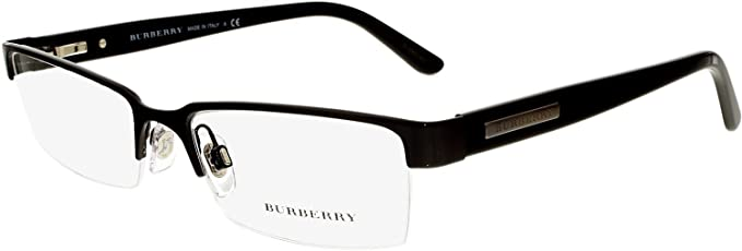 22874d85d868 Burberry Men's BE1156-1001-52 Black Rectangle Sunglasses: Burberry ...