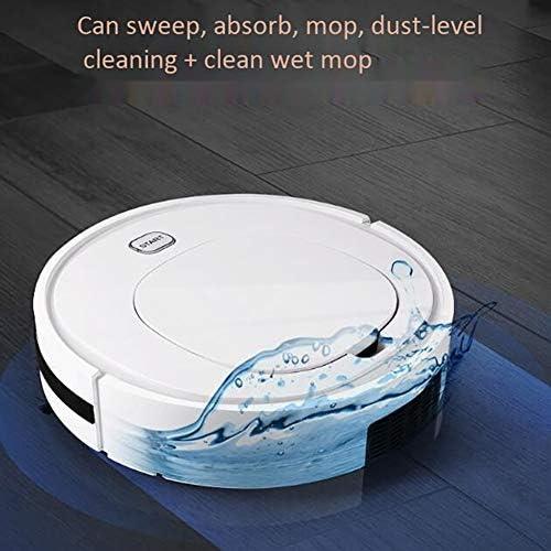 QBCNM Robot Aspirapolvere, Ricaricabile Intelligente Vuoto Robot, a Basso Rumore, di Smart Path Planning, per Rivestimento, Composito, Marmo, Pavimento in Legno