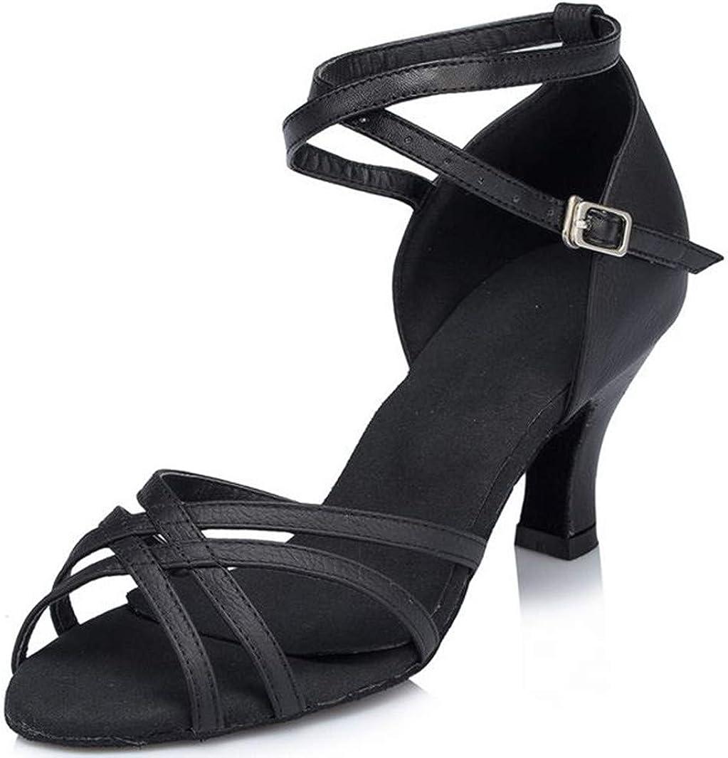Aaron Womens Salsa Tango Latin Monk Strap Dance Shoes