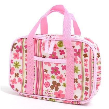 格上スタイルのキッズ裁縫・ソーイングバッグ(バッグのみ) スカンジナビアのフラワーパーク(ピンク) N2305500