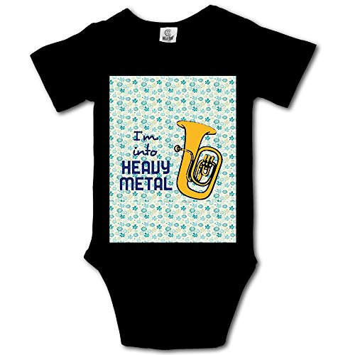 Msiiks IM INTO Heavy Metal Baby Boys Girls Cotton Comfortable Cutie Short Sleeve Romper
