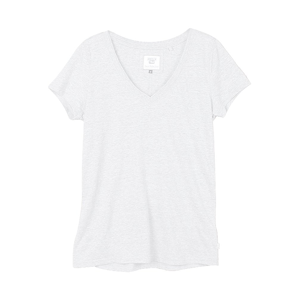 Ronlin Women V Neck White Pure Cotton Short Sleeve Casual Blouse Tee Shirts for Summer, Large