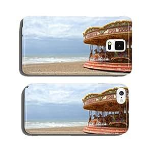 Fairground roundabout on Brighton beach. England cell phone cover case Samsung S5
