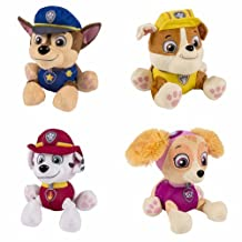 Paw Patrol Plush Pup Pals Stuffed Animal Toy Set: Chase, Rubble, Marshall & Skye by Spin Master by Spin Master