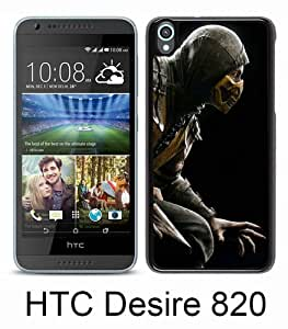 Beautiful And Unique Designed Case For HTC Desire 820 With mortal kombat scorpion hero costume black Phone Case