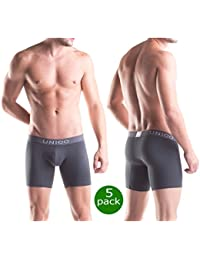 Men Underwear Solid Cotton Medium Boxer Briefs Calzoncillos Hombre