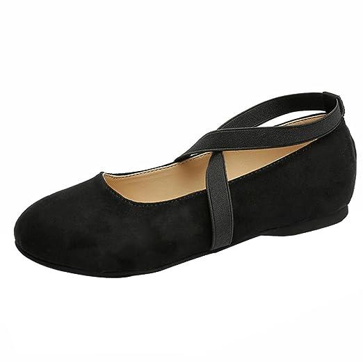 d239ac91293d5 DENER Women Ladies Girls Ballet Flats, Flock Full Split Sole Slip on ...