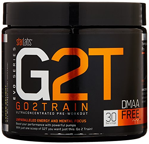GO2TRAIN (G2T), Ultraconcentrated Pre Workout with Creatine Nitrate & Razberi-K for Power & Fat Burning, Lemon Delight, 30 Servings