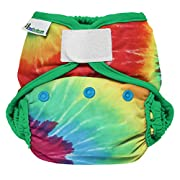 Best Bottom Cloth Diaper Shell-Hook and Loop, Totally Tie Dye