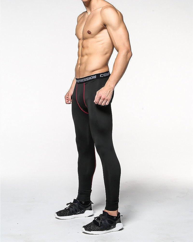 MISSMAO Mens Thermal Compression Base Layer Pants Running Skinny Tights Gym Sport Yoga Leggings