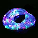 AOTOSOLO 33ft/10m 100LED Solar Rope Lights,Outdoor Waterproof Rope Lighting,3000K LED String Light withLight Sensor, Ideal for Wedding, Party, Decorations, Gardens, Lawn, Patio(Multicolored)