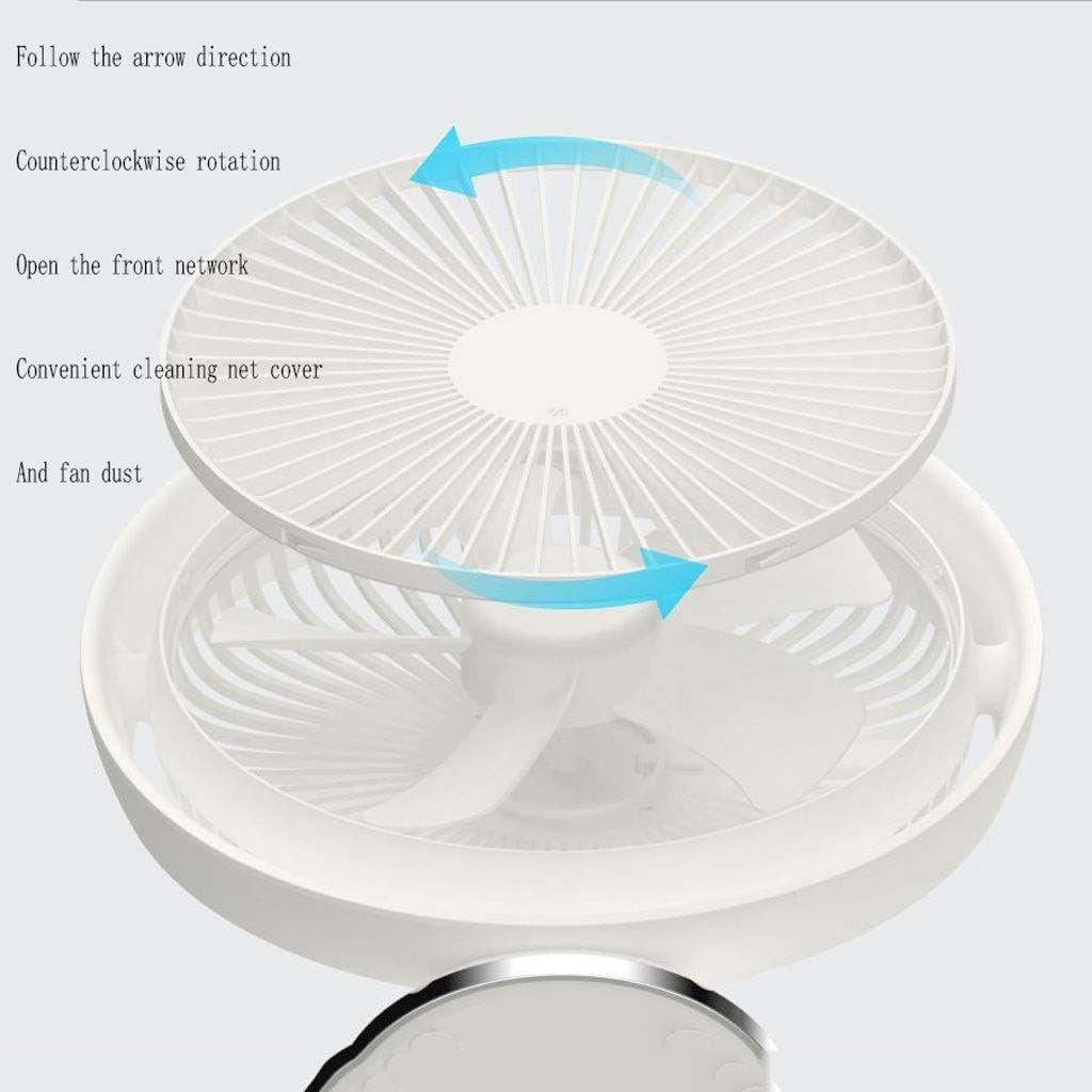 Color : White AB Autumn Fan Mini USB Small Fan Small Desktop Student Portable Dormitory Silent Portable Rechargeable Office Desktop Fan Small Table Fan Big Wind Bed Table