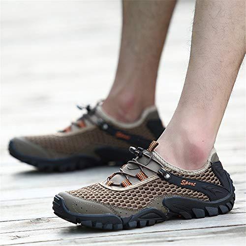 Eu Air Non Marron Plein Évider D'eau Sur 43 Taille coloré En Marron Chaussures D'été Antidérapant Hommes Des Qiusa qwxRpp