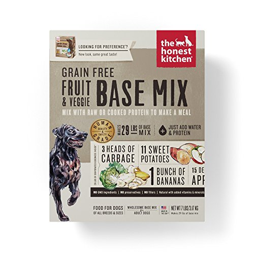 Honest Kitchen The Grain Free Fruit & Veggie Base Mix Recipe for Dogs, 7 lb box - - Mix Dog Food