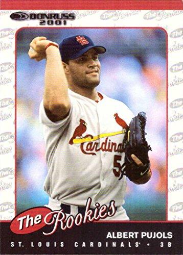 (2001 Donruss the Rookies Baseball #R97 Albert Pujols Rookie Card)