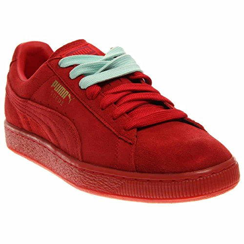 PUMA Men's Suede Classic - Mono Iced Sneaker High Risk Red/Team Gold 14 M (Red Shoes Puma All)