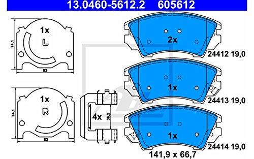 ATE 13.0460-5612.2 4x Bremsbel/äge vorne