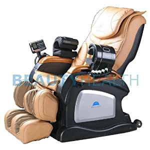 Authentic Beautyhealth Forever Rest Luxury Massage Chair *body scan*(NOW W/HEAT ON BACK AND FEET)IN BEIGE CARAMEL
