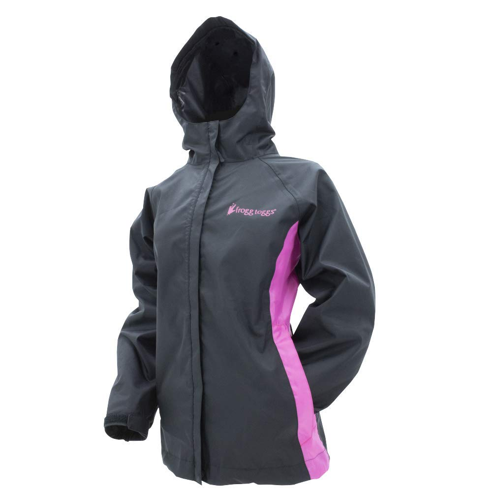 Frogg Toggs Stormwatch Jacket, Women's, Black/Pink, Size XX-Large by Frogg Toggs
