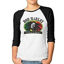 Z-Jane Bob Pop Marley Women Round Collar Tshirt SizeM