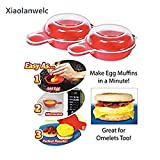 Xiaolanwelc@ Easy Eggwich Cooking Tool Microwave Cheese Egg...