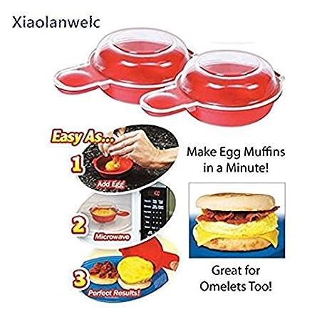 xiaolanwelc @ fácil Eggwich herramienta de cocina microondas cocina 1 minuto de rápido huevo queso Hamburgo omelet eléctrica cocina cocinar herramienta: ...
