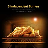 Commercial 36''Gas 2 Burner Range With Griddle