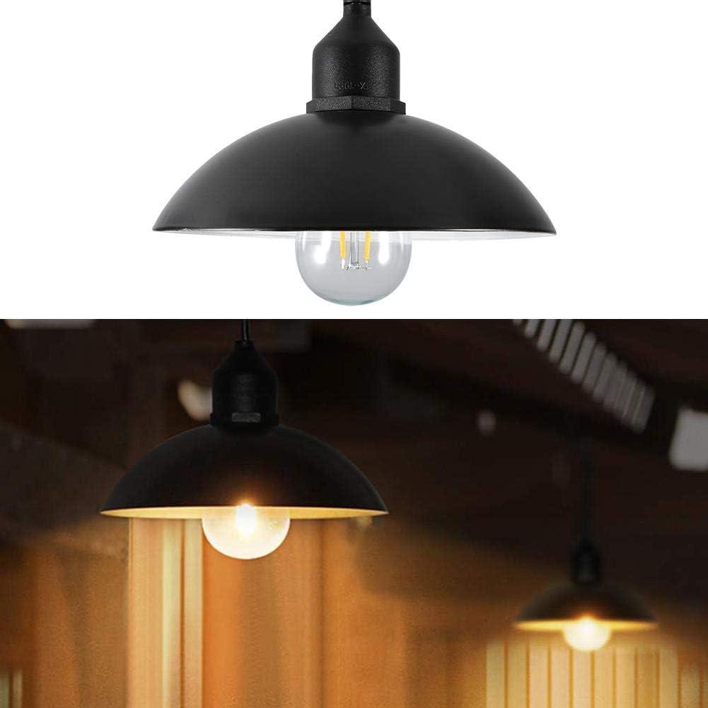 Abat-Jour en M/étal Solaire Aliment/é Lampe Suspendue E27 Ampoule Ext/érieure Hangar Hangar Lampe pour Maison Jardin pour Jardin Cour Patio Balcon Lumi/ères Solaire LED Plafond//Suspension