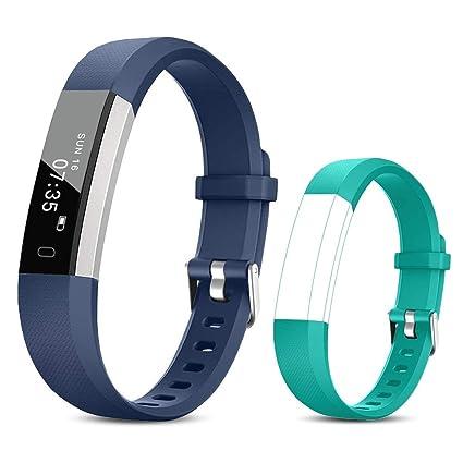 TOOBUR Reloj Inteligente para Mujer Hombre Niños, Pulsera Actividad con Cuenta Pasos y Calorias, Podómetro Smartwatch Impermeable IP67 con Monitor de ...