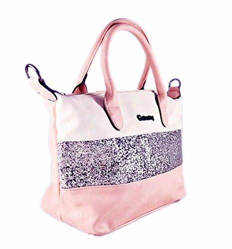 paillettes sac air Blanc compatible moyenne ipad main taille de ville Sac à Rose Gallantry à wOI7aXCqn