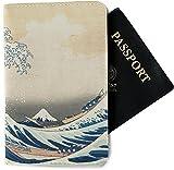 Great Wave of Kanagawa Passport Holder - Fabric