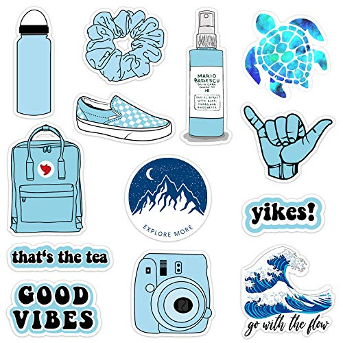 VSCO Vinyl Stickers Waterproof,Aesthetic,Trendy - VSCO Girl Essential Stuff for Water Bottles Stickers Suitable for Photo Sharing, Swimming,Outdoor