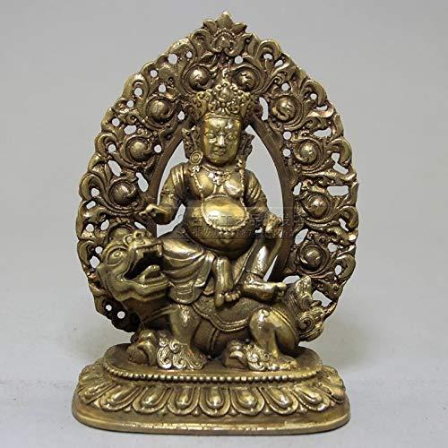 Viet JK Bronze Statue - Rare Sculpture Pure Brass Sculpture Buddha Shakya Mani Buddha Bodhisattva Sculpture Dragon Mounts Statues 1 Pcs - Lucky Buddha Statue ()