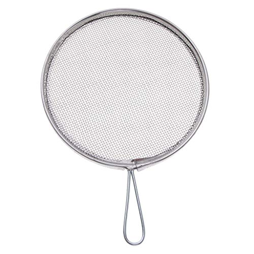 Fityle Steel DIY Crafts Filter Mesh Screen Strainers Mesh Sieves for Ceramic Glaze 2 Styles Can Choose with Handles - Round - Style Strainer