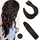 """Ugeat 22"""" Full Head Clip in Hair Extensions Dark Brown Color #4 Unprocessed Brazilian Hair Clip ins 7pcs/120g per Package"""