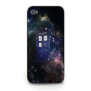 Unique Design(TM) Iphone 5c Case Cover Purple Disney Cartoon Anime Comics Character Doctor Who Hard Tpu Slim Fit Rubber Custom Black Protective Accessories for Girls