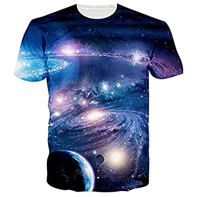 NEWISTAR Unisex 3D Printed Summer Casual Short Sleeve T Shirts Top Tees S-XXL