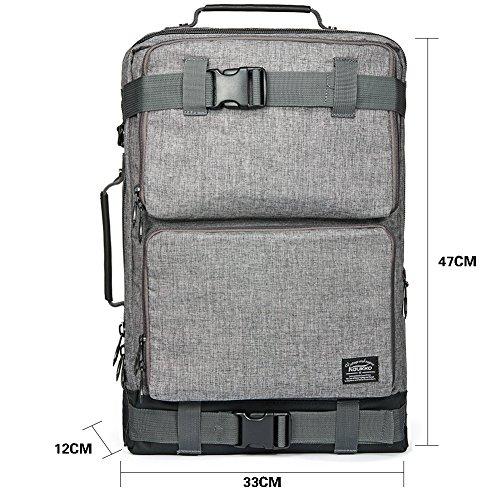 Sacs à dos sports et plein air, KAUKKO Sacs à dos de randonnée et camping, hommes et femmes Sacs de trekking avec 3 façons de porter (Gris40)