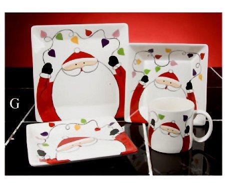 16PC Christmas Ceramic Dinnerware set Santa Claus  sc 1 st  Amazon UK & 16PC Christmas Ceramic Dinnerware set Santa Claus: Amazon.co.uk ...