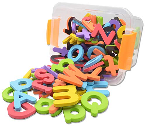 - Seatrend Magnetic EVA Foam Alphabet Letters and Numbers Kits for Toddlers Kids in Fun Educational,Fridge Magnets Toy Set Preschool Learning Spelling Counting 114 PCS (Multicolored)