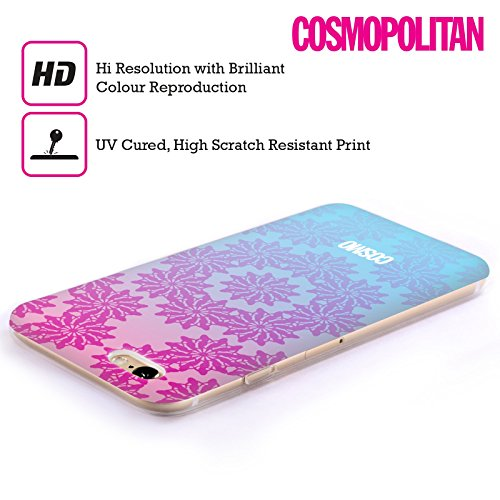 Official Cosmopolitan Ombre 3 Floral Patterns Soft Gel Case for Apple iPhone 5c
