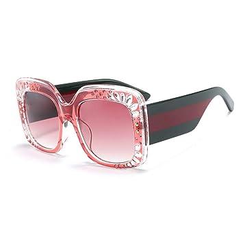 XINGMU Gafas De Sol Mujer Rosa Pétalo De Cristal Bastidor ...