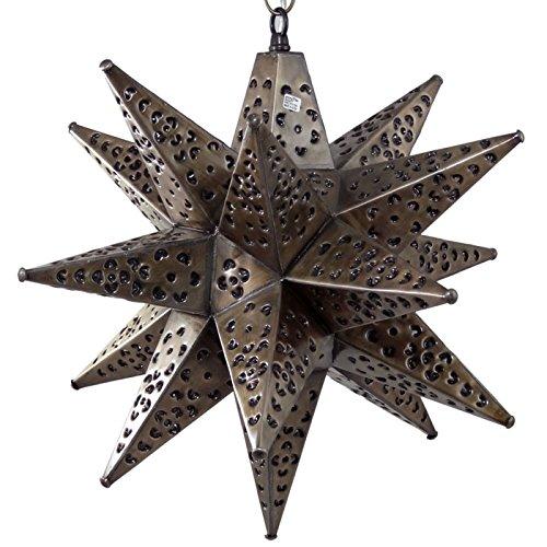Moravian Light Flower Pierced Bronze