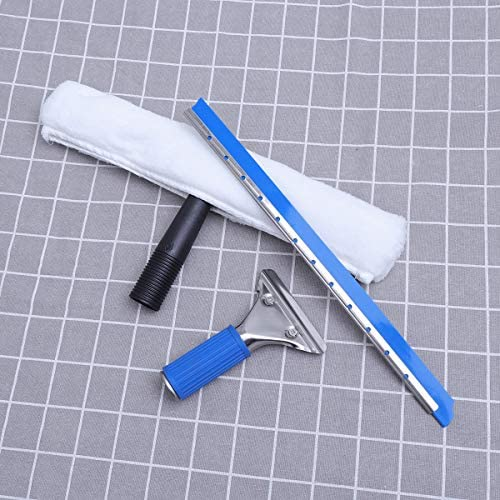 TOPBATHY Handheld Window Wiper with Scraper Glass Cleaning Set for Home and Car Use