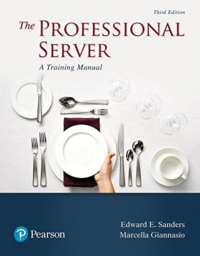 Books : The Professional Server: A Training Manual (3rd Edition) (What's New in Culinary & Hospitality)
