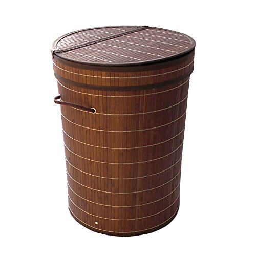 folding-bamboo-laundry-hamper-basket-cloth-hamper-basket-with-lid-and-removable-lining-cylinder-dark