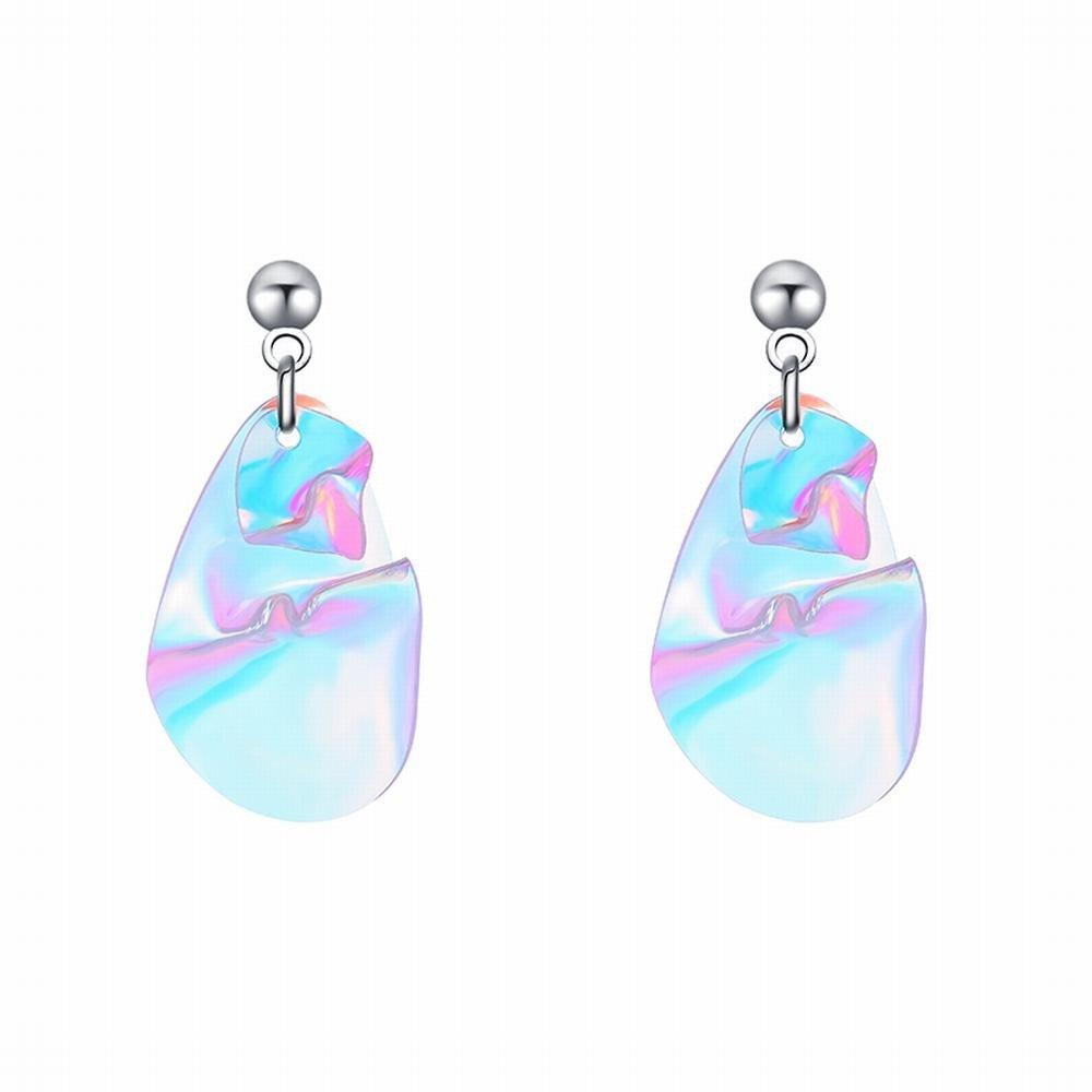 Ling Studs Earrings Hypoallergenic Cartilage Ear Piercing Irregular Sequin Earrings Short Earrings by Ling (Image #1)