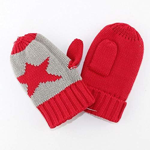 Boomly Invernali Caldi Cappello Sciarpa e Guanti 3 Pezzi Set Lunghi Sciarpa Cappello in Cotone Lavorato a Maglia Guanti da Sci per Natale